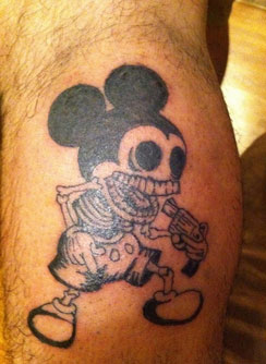 Mickey skeleton tattoo