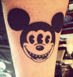 3 eyed Mickey tattoo