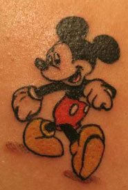 Walking Mickey tattoo