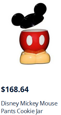 Mickey Mouse Pants Cookie Jar