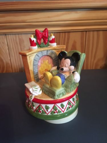 Schmid Christmas Music Box Mickey Mouse