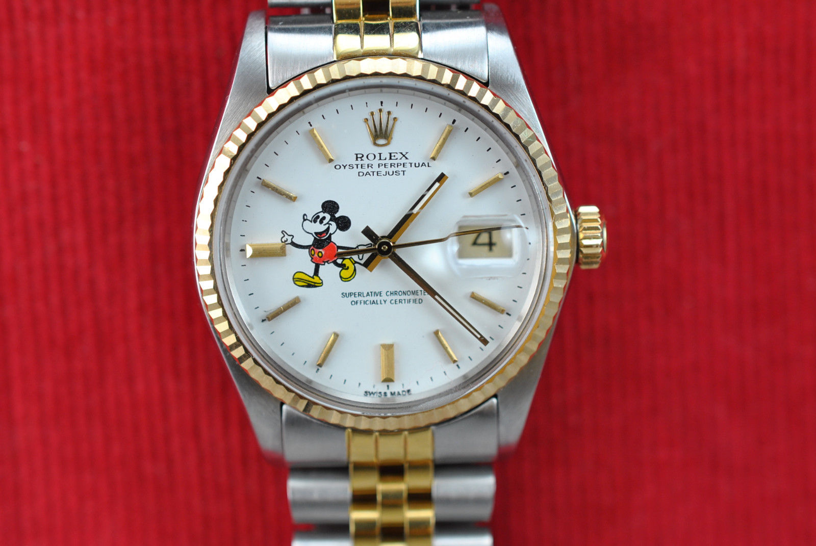 Mickey Mouse Rolex Watch DateJust 16013